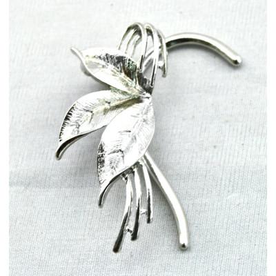 New Fashion Silver Tone Metal Leaf Ear Cuff Earring E-0573