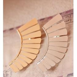 fashion gold/ silver/Bronze  plated metal fan-shaped ear cuff ear stud E-0574