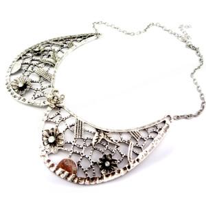 Bohemian Retro rhinestone hollow out flower collar choker necklace N-2013