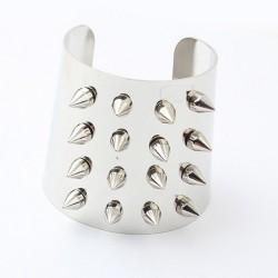 European style gold/silver plated nail rivet fashion opened bangle B-0081