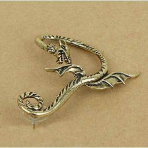 New Punk Rock Earrings  bronze silver Metal Wrap Fly fair Dragon Ear Cuff Clip E-1194