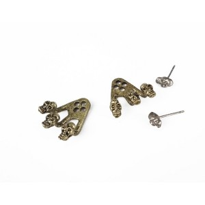 New Punk Rock  skull head claw ear cuff ear stud E-1092