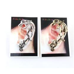 New Punk Rock Earrings  bronze silver Metal fire shape  bird phoenix Ear Cuff ear  stud E-1184