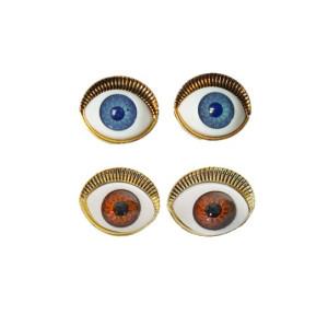 European style bronze metal lifelike eyes ear stud lifelike eyes ear stud
