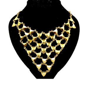 New Punk Vintage Gold Triangle Catenation Choker Necklace N-1789