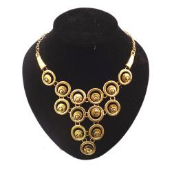New Fashion Vintage Gold Tone Metal Circle Eyes Choker Necklace N-1872