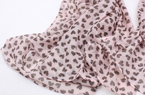New Coming Fashion Small Heart Lovely scarf shawl C-0007
