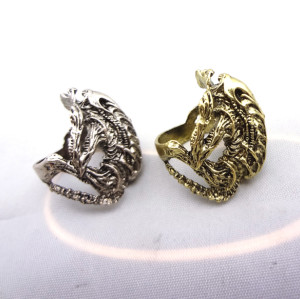 R-0523 New Coming Vintage Silver/Bronze Animal Frog  Bone  Fashion Ring