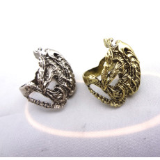 R-0523 New Coming Vintage Silver/Bronze Animal Frog  Bone  Fashion Ring