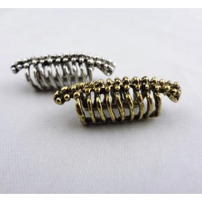 E-1197 Wholesale 2Pcs Silver/Bronze Metal Bone Spine Ear Cuff Earring