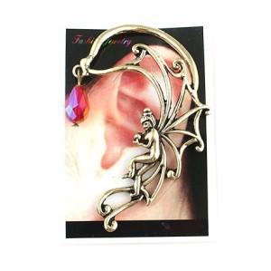 E-1196 Vintage Style Angel Drop Ball Tassel Ear Stud Ear Cuff