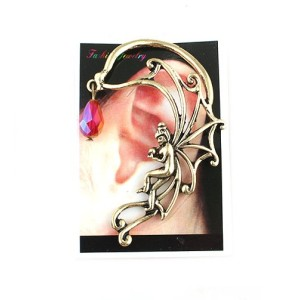 E-1196 Vintage Style Angel Drop Ball Tassel Ear Stud Ear Cuff