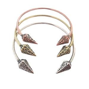 B-0197 Fashion Punk Rivet Spike Opened Cuff Bangle Vintage Style  Bracelet