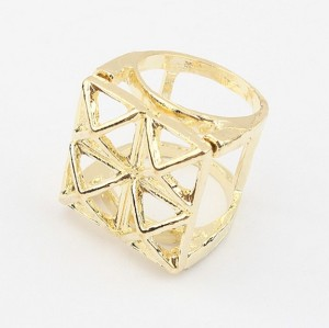 R-0147 vintage style 5colors geometry magic square ring