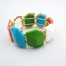 B-0007 New Charming Fashion Colorful Resin Gem Lovely Bracelet