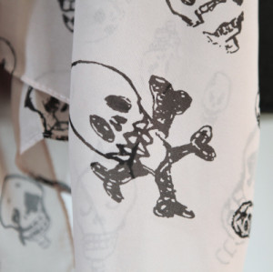 C-0015 New Punk Bulb Bone Skull US Dollar Sign Design Scarf Shawl Color Choose