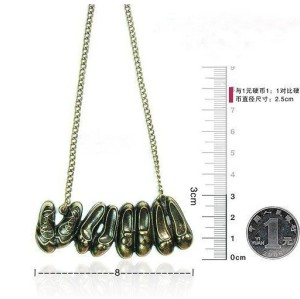 N-2792 Hot Vintage Style Bronze Metal Kinds Of Shoes Pendant Long Chain Necklace