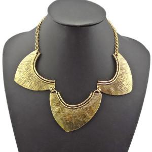 N-1861 Hot New Design Gothic Punk Special Vintage Gold Carved Bib Collar Necklace