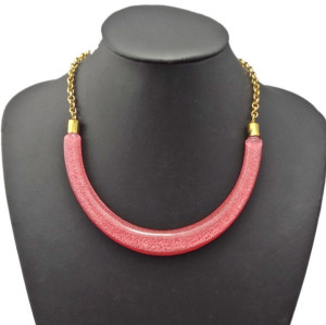 N-0288 Ladies Chunky New Design Resin Stone Collar Bib Necklace