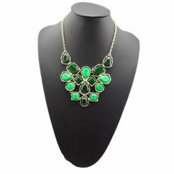 European style geometry irregular Opal choker statement necklace