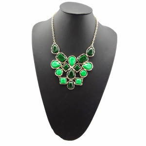 European style geometry irregular Opal choker statement necklace