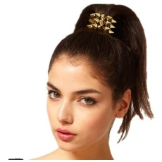 F-0009 Hot punk style rivets gold silver black 3 colors Hairband Ponytali Holder Hair Accessory