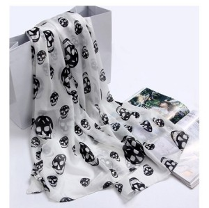 C-0021 2012 Korean new woman scarf Europe skull scarf velvet Chiffon Scarf