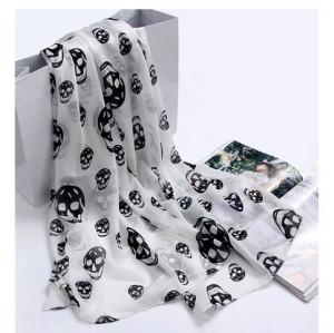 C-0021 2012 Korean new woman scarf Europe skull scarf velvet Chiffon Scarf
