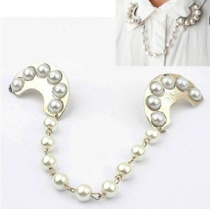 P-0064 New European Style Silver Plated Alloy Pearl All Matched Brooch Pin