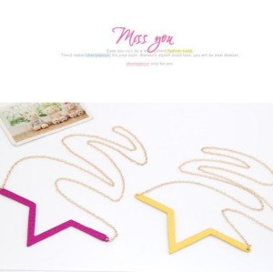 N-4537 New Arrival Fashion Exclusive Enamel Geometric Sharp Pendant Cool  Necklace
