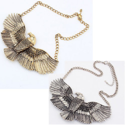 European style Fashion The eagle expanded its wings  Choker Bib Necklace N-3252