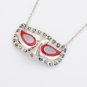 N-2786 New Vintage Style Charming Silver Mask Pendant Necklace