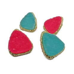E-1003 New Lovely Fashion Sweet Candy Resin Triangle Ear Stud