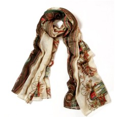 C-0023 hot Sell 2012 Stars Style Europe rectangle cream cotton carriage lady scarf 180cm*110cm