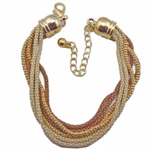 European style Multilayer enamel Snake Chain Bracelet B-0072