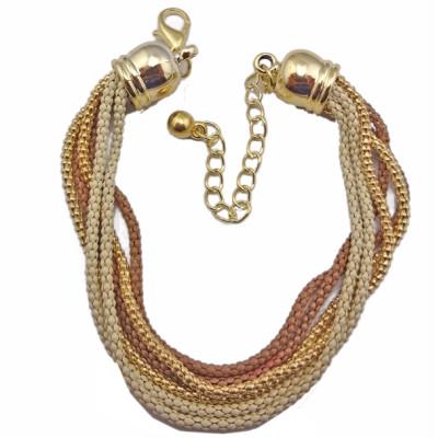 B-0072 European Style Multilayer enamel Snake Chain Bracelet