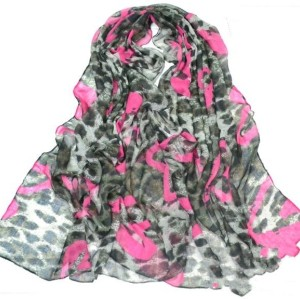 New European Style Fashion Leopard Heart cotton yarn scarf 180cm*110cm C-0032