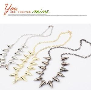 New Arrival Fashion Punk Gold/Silver/Gun Black Metal Bullet Choker Necklace N-1313