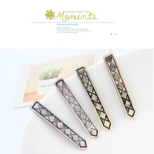 New Arrival Punk Vintage Style Silver Metal Long Suit  Ear Stud E-2029