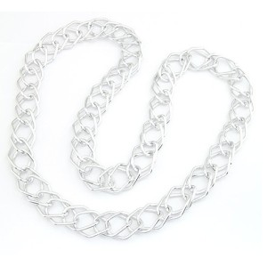 New European Style Fashion Silver Plated Link Long Double Chain Necklace N-1503