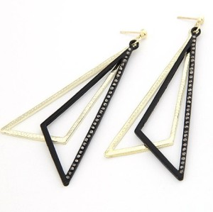 New Arrival Korean Style Rhinestone Triangle Earring E-2021