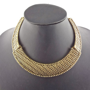 New Arrival Punk European Style Vintage Gold Metal Choker Necklace N-2082