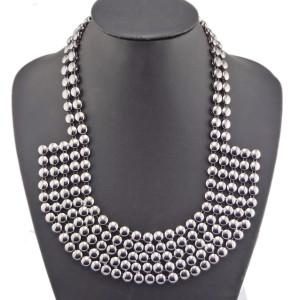 Punk European Style Gold/silver/gun black Metal collar multilayer Choker Necklace N-1787