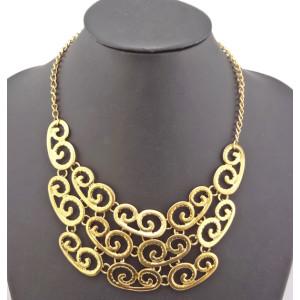 Fashion Vintage Style gold metal Choker Bib Necklace N-1856