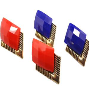 New Arrival Fashion Korean Style Gold Plated geometry diamond Earrings E-2035