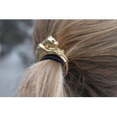 New Fashion European Style Gold/Silver Plated Alloy Red Rhienstone Eyes Leopard Hair Band F-0012