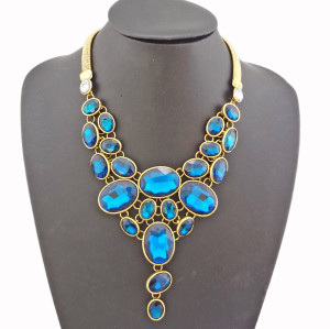 New European vintage Style Crystal Choker Necklace N-0268