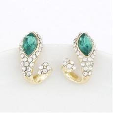New Fashion Korean  gold plated Rhinestone crystal snake Ear Stud Earrings E-1650