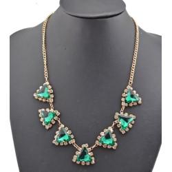 New Arrival Charming Fashion Gold Metal Rhinestone Crystal Triangle Choker Necklace N-0282