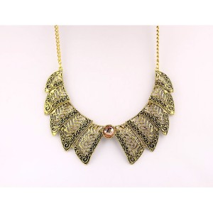 vintage style hollow out flower bowknot  Crystal Choker collar Necklace N-1780
